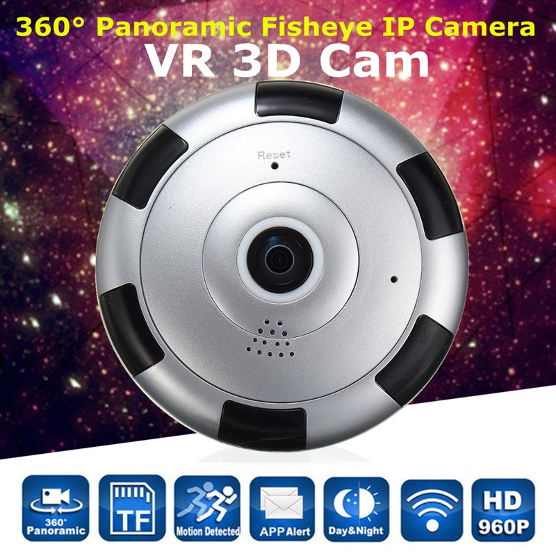 NEW 360 degree HD 960P Panoramic Fisheye IP Camera Wifi Security Surveillance Camera VR 3D Webcam Home Security<br>