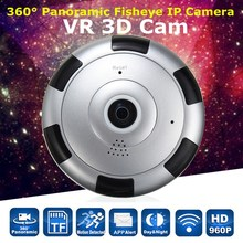 NEW 360 degree HD 960P Panoramic Fisheye IP Camera Wifi Security Surveillance Camera VR 3D Webcam Home Security(China)