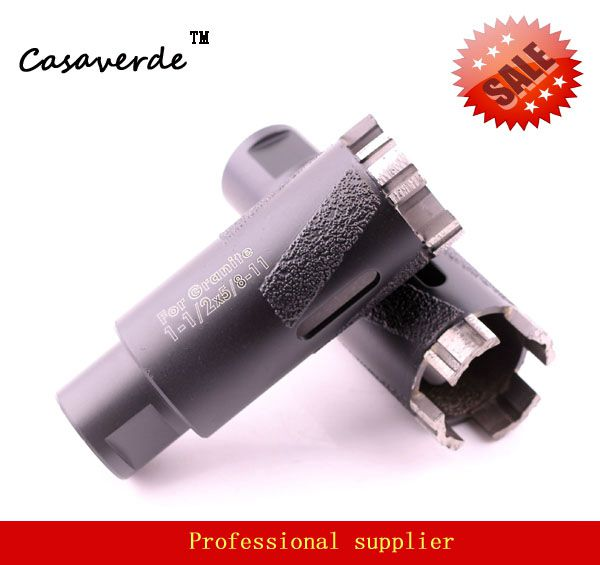 Hole saw 1-1/2 D38mm dry diamond drill bits for dry drilling stone with Vacuum Brazed Inside and Outside protection<br>