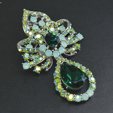 CINDY XIANG Fashion Crystal Flower Brooches For Women Vintage Brooch Pin Dress Coat Accessories Elegant Jewelry 2 Colors Pick