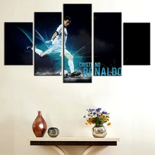 5 Panel C Ronaldo Real Madrid Canvas Printed Painting For Living Picture Wall Art HD Decor Modern Artworks Football Poster(China)