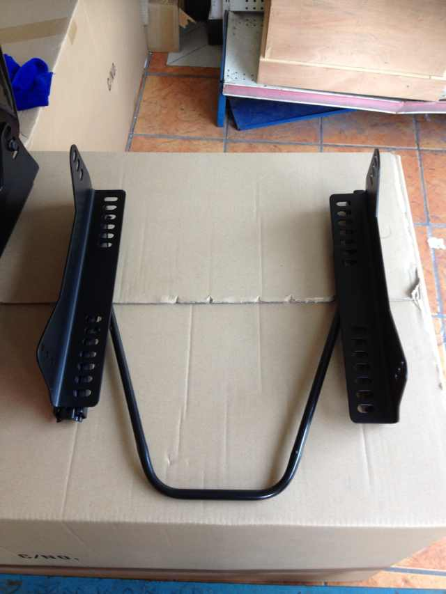 L shaped plate and slider rails 1