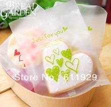 gift plastic bags (Just for you) open-top bakery bread, 10cmx13cm 500pcs/lot , gift cake plastic bags, Free shipping(China)