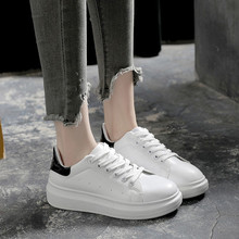 2018 new white shoes women Korean version of the end of thick sneakers casual shoes students increased puff pastry shoes shoes t(China)