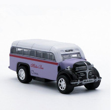 1:64 alloy pull back car model, high simulation Malta bus, school bus, metal castings, children's toy vehicle, free shipping(China)