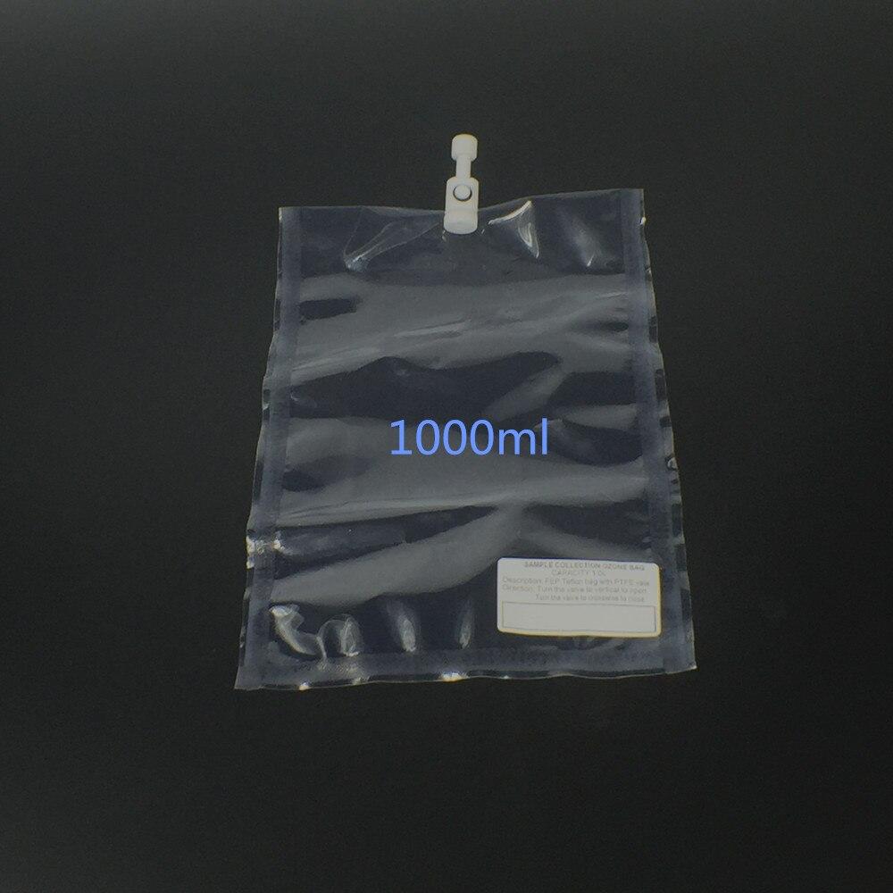 Ozone collection bag,laboratory ozone collection bag FEP Teflon with PTFE Valve   1000ml