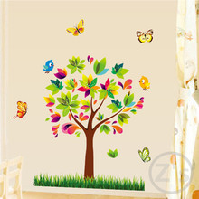 Trees Wall Sticker Children Home Decor Cartoon Wall Decal DIY for Kids Room Decal Baby Mural Nursery AY7114