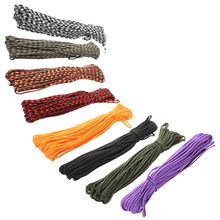 8 Colors Paracord 550 Paracord Parachute Cord Lanyard Rope Mil Spec Type III 7Strand 100FT Climbing Camping Survival Equipment