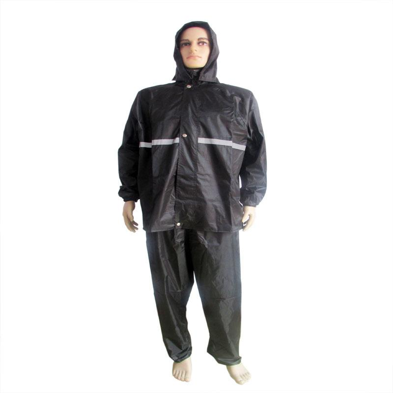 The New Waterproof Raincoat Wear A Hat Black Sanitation Safety Reflective Suit Sanitation Smock Workwear Uniforms Clothing<br><br>Aliexpress