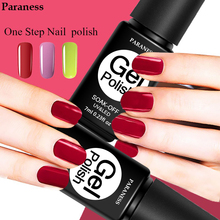 Paraness One Step 3in1 Nail Gel Polish Soak Off Pure Color Foil Adhesive Professional Gel Lacquer Long Lasting UV LED Nail Art