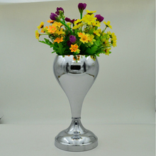 H28cm silver plated small size matal vase wedding decoration vase vase for wedding decoration wedding decoration vase HP018
