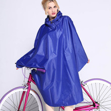 Trendy Solid Rain Coat Women Biking Waterproof Raincoats Rain Poncho Girls Rain Cape