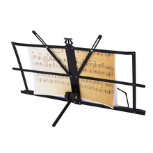 Professional Folding Music Stand Metal Sheet Music Holder Foldable Musical Instruments Accessories(China)