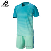 2017 High Quality New Men Soccer Jerseys Suit Uniform Football Training Set Custom Name Number Short Sleeve Sport Wear For Male(China)