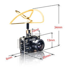 AKK A2 5.8Ghz 40CH 200mW FPV Transmitter Raceband 600TVL 1/4 Cmos Mini FPV Micro AIO Camera with Clover Antenna for FPV Drone(United States)