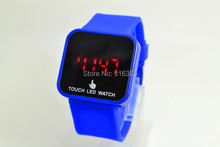 1PCS New Colorful Unisex Men Women LED Digital Touch Screen Silicone Date Time Sport Wrist Watch Sale