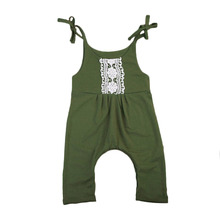 Pudcoco 2017 Baby Girl Clothes Cute Lace Green Romper Newborn Baby Girl  Romper Cotton Jumpsuit Summer Clothing 0-24M