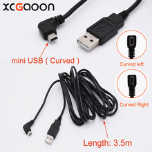 XCGaoon New Car Charging curved mini USB Cable for Car DVR Camera Video Recorder / GPS / PAD etc, Cable lengh 3.5m ( 11.48ft )