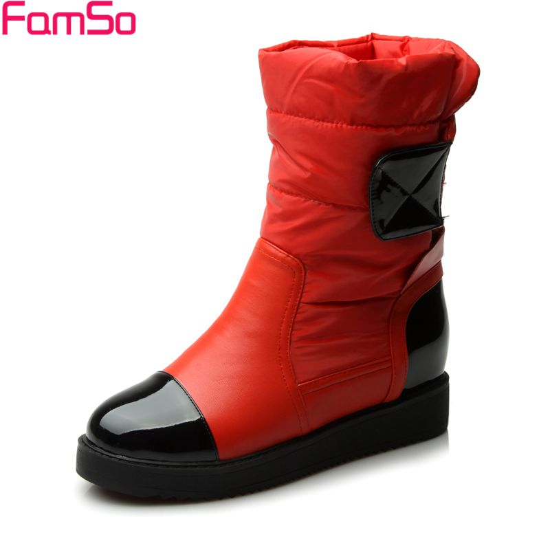 Free shipping 2017 New Shoes Women Down Boots black red white Russia Outdoor Keep Warm Snow Boots Female Riding Boots SBT3446<br><br>Aliexpress