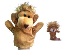 2pcs/set Large& Small Size Animal Glove Hand Puppet Toys Kawaii Novelty Cute Lion Muppet Dolls for Parent-child Early Childhood(China)
