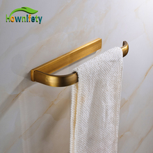 Antique Brass Single Towel Bar Towel Holder Bathroom Hardware Accessories Wall Mount(China)