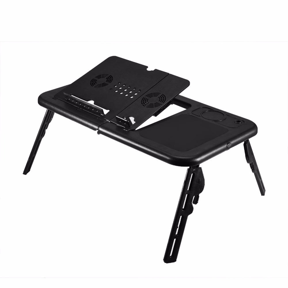 Folding Laptop Desk Adjustable Computer Table Stand Foldable Table Cooling Fan Tray For Bed Sofa Notebook for Computer Table