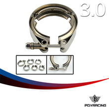 "PQY RACING- 3"" STAINLESS STEEL 304 TURBO/INTERCOOLER/DOWNPIPE/DOWN PIPE/HOSE V-Band CLAMP PQY5285VC"