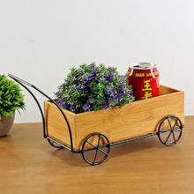 Creative Wood Trailer Home Decor Living Room Storage Boxes Makeup Organizer Decorative Crafts Furnishing Articles(China)
