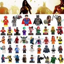Super Heroes Justice League Chiffres Jouets Superman Wonder Woman Flash Green Lantern Batman Legoings Super Héros Blocs Jouets Enfants(China)