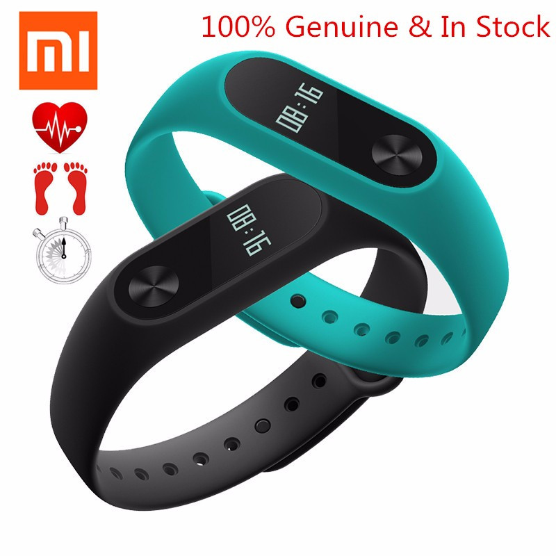 Original Xiaomi Mi Bands 2 Miband Band2 Black Wristband Bracelet with Smart Heart Rate Fitness Tracker Touchpad OLED Strap<br>