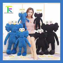 90cm 2017 Kaws Thailand Bangkok Exhibition Sesame Street Kaws BFF Plush Doll Toy Collections without retail box(China)