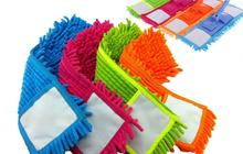 10pcs 40x12CM Floding Flat Mop Head Chenille Refill Replace Microfibre Fabric Replacement Cloth Easy Wash No Handle