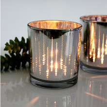 Candlestick Silver glass mousse modern brief Christmas decoration accessories home decoration gifts