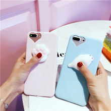 Cute 3D Soft Silicone Cat Cover For Samsung Galaxy A5 A3 A7 2017 J5 J7 J3 2016 S8 Plus S7 Case For iPhone X 8 6 6S 7 Plus 5S SE