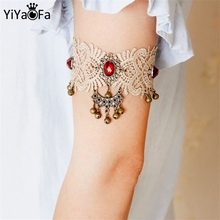 YiYaoFa DIY Gothic Jewelry Lace Arm Accessories Women Bracelets & Bangles Handmade Summer  Girl Party Jewelry AT-66