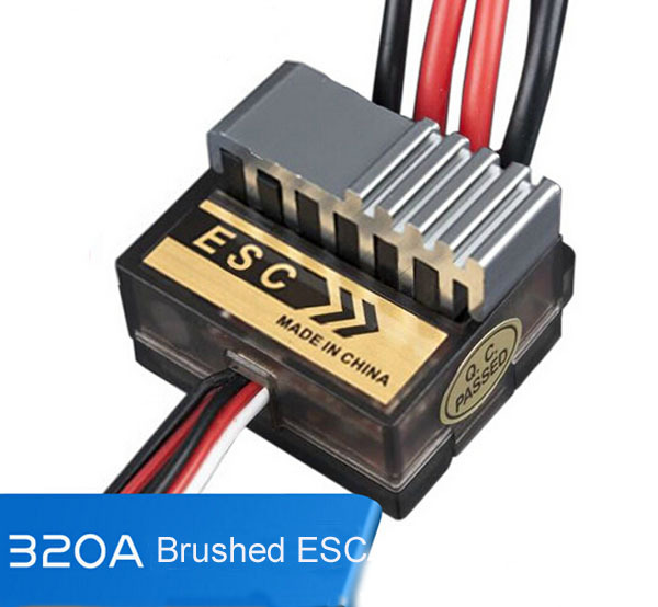 Electric Speed 4.8-7.4V HSP 320A Brushed Controller ESC For RC Car Boart Wholesale<br><br>Aliexpress