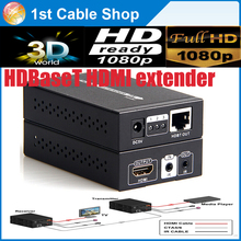 HDBaseT HDMI extender with IR hdmi 1.4V up to 70M 3D,4kX2k supported with dual power adapter