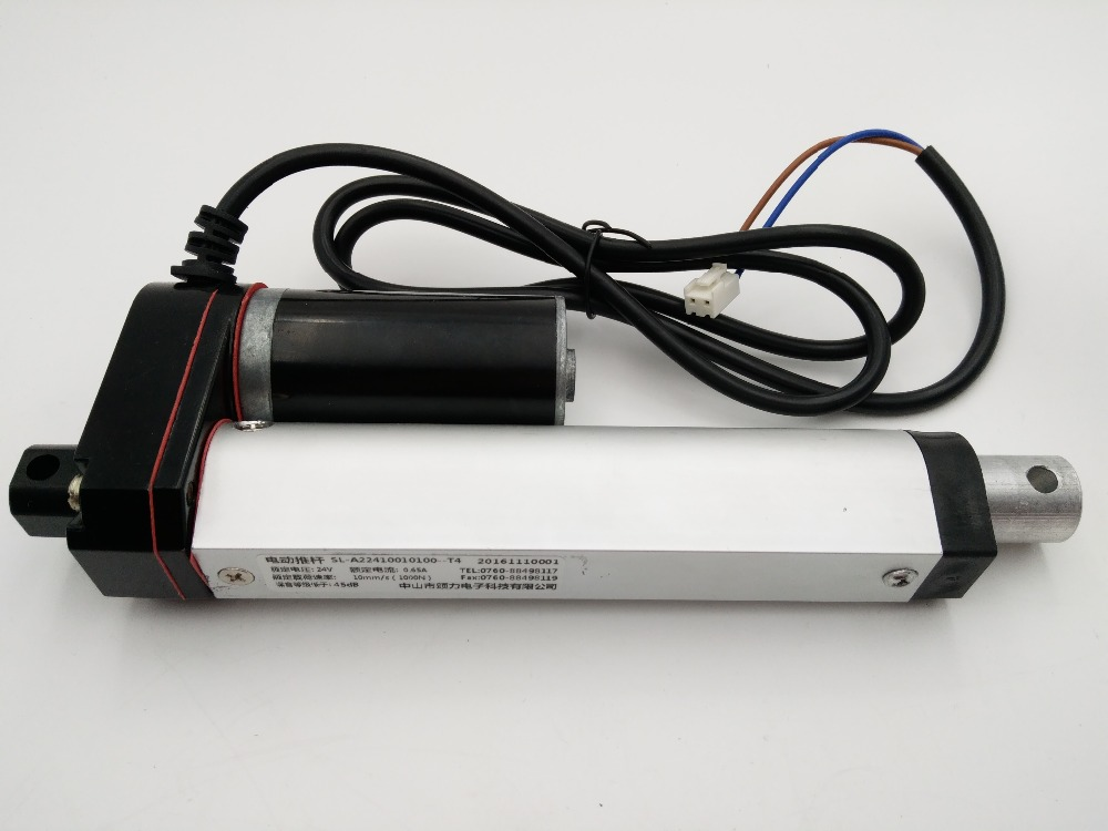 100mm 12inch Stroke 24V 10mm/s 980N 220LBS Micro Electric Linear Actuator For TV Lift with NO Bracket <br><br>Aliexpress
