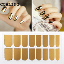1pcs New Arrival Nail Art Stickers Gold Silver Black Full Cover Nail Foil Patch Wraps,Adhesive DIY Nail Decoration Tools(China)