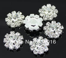 Free Shipping 100pcs DIA 12mm Round Rhinestone Embellishment  Buttons Without Loop Clear Crystal Cluster Buckle