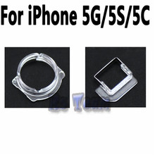 5pcs High Quality Light Sensor & Front Camera Plastic Cap Holder Lens Clip Ring Bracket For iPhone 5 5S 5C SE Replacement Parts(China)