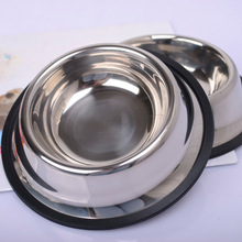 15*4cm Cat Food Bowl Cat Dish Stainless Steel Dog Bowl Pet Sterile Tableware Pet Feeding and Watering Supplies WYQ