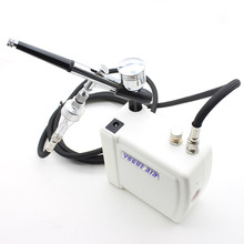 Mini Dual Action Airbrush Kit Compressor 12v Air Brush Gun For Art Painting Makeup Manicure Craft Model AirBrush Nail Tool Set(China)