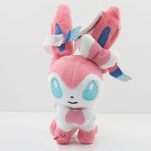 12cm-35cm Anime Eevee Plush toys  lovely Sylveon Dolls Toys  Cute Stuffed Toys for Girls Pikachu series  Plush Dolls