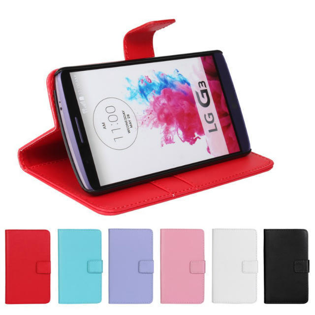 Mobile Phone Cover Bag Fashion Wallet Style PU Leather Case For LG G3 D855 D830 Shell Flip Stand With Card Slot Holder Skin