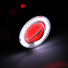 Universal Motorcycle 35w 2 inch Hid Bixenon Projector Lens Headlight Kit  White CCFL Angel Eye and Red Devil Eye