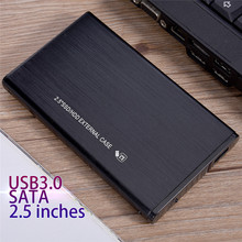 Newest SATA3.0 to USB 3.0 Enclosure Black Aluminum Alloy Case 2.5 inch HDD hard drive cartridge sata notebook external cover(China)