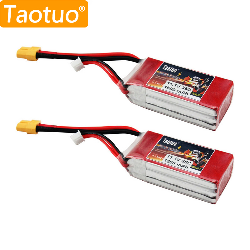2Pcs/Lot Taotuo Lithium LiPo Battery 11.1V 1500Mah 3S 35c For RC Quadcopter Drone Helicopter Car Airplane Toy Parts Bateria Lipo<br><br>Aliexpress