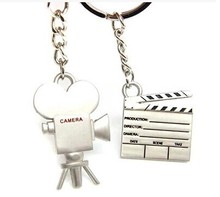 Creative Camera Keyring  Couple Keychain Gift for Lover 2 Pieces/1 Pair/1 Lot