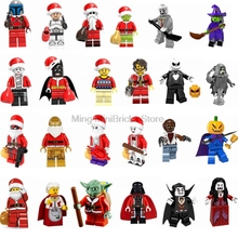 Legoing Christmas and Halloween festival  Gift Joker Harley Quinn Building Blocks Model Compatible With Legoings Figures Toys(China)